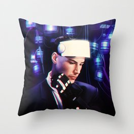 Johnny Mnemonic Throw Pillow