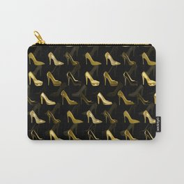 High Heels Golden Shoes pattern Carry-All Pouch