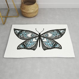 Fly With Pride: Demiboy Flag Butterfly Rug