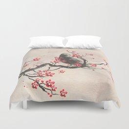 Cherry Blossom Raven Duvet Cover