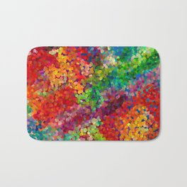 Color Theory Clash Bath Mat