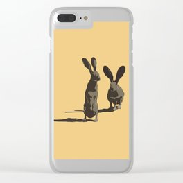 Two Rabbits Clear iPhone Case