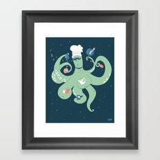 The Octopus Chef Framed Art Print