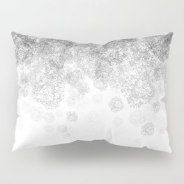 Disappearing Fog - Black and White Gradient Pillow Sham