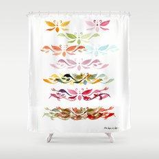 Butterfly arabesque Shower Curtain