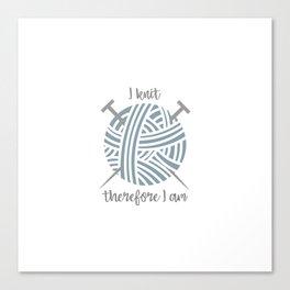 I knit Canvas Print