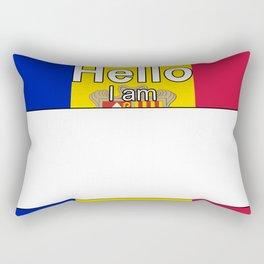 Hello I am from Andorra Rectangular Pillow