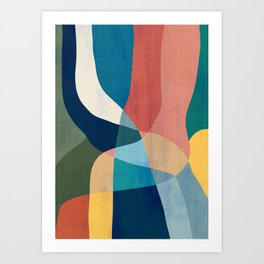 Waterfall and forest Art Print