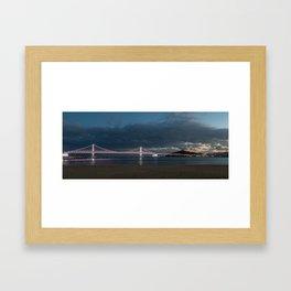 Busan Gwangandaegyo Bridge Framed Art Print