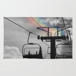 4 Seat Chair Lift Rainbow Sky B&W Rug