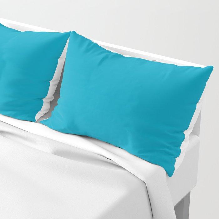Bondi Blue Solid Color Pillow Sham