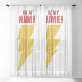 Shazam (Say My Name!) DC Comics Fan Art Sheer Curtain