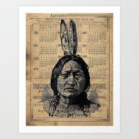 Sitting Bull Native American Chief  Art Print
