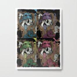 THE CARTOON CAT 4X REDUX Metal Print