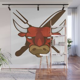 Funny Grill Party Grilling Master BBQ Summer Gift Wall Mural