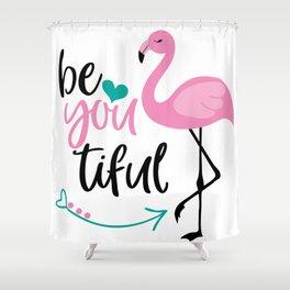Beautiful Flamingo, Cute Pink Flamingo Shower Curtain
