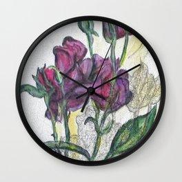 Kimberly Spring Flower Digital Enhanced Wall Clock
