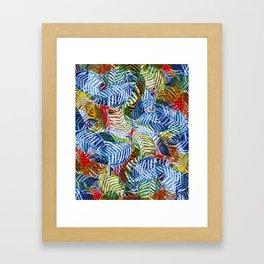 Jungle Leaves Framed Art Print