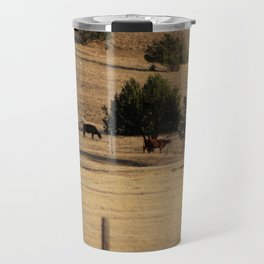 Cows in Utah Pastureland Travel Mug