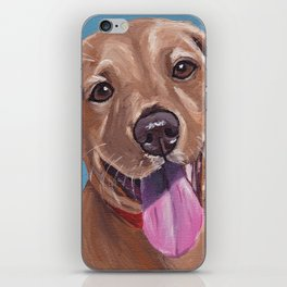Red Lab Painting, Puppy Painting iPhone Skin