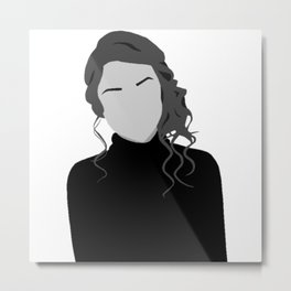 Solid Color Girl Metal Print