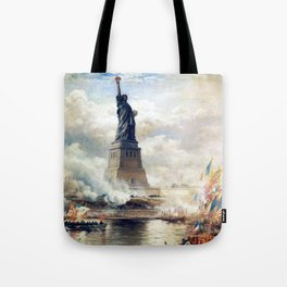 Statue of Liberty Unveiling Tote Bag