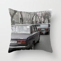 ukraine Throw Pillows featuring Odessa Ukraine by Sanchez Grande