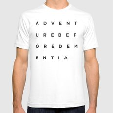 Adventure Before Dementia Mens Fitted Tee White SMALL