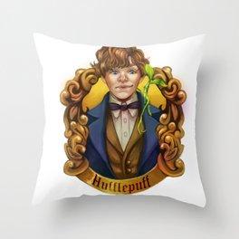 Fantastic Newt Throw Pillow
