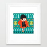 grunge Framed Art Prints featuring Grunge by Irene Dose
