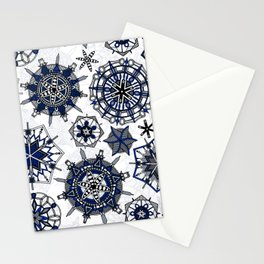 mandala snowflakes Stationery Cards