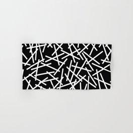 Kerplunk Black and White Hand & Bath Towel