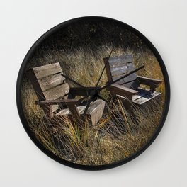 Adirondack Chairs Michigan Wall Clock