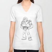 buzz lightyear V-neck T-shirts featuring Woody Lightyear  by Other People's Characters