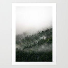 Foggy Prince William Sound Art Print