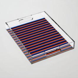 Color Stripe _001 Acrylic Tray