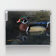 Reflective Wood Duck Laptop & iPad Skin