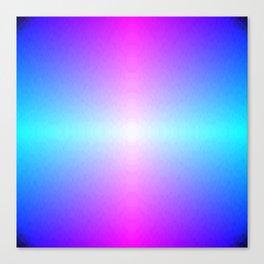 Four color blue, purple, pink, white ombre Canvas Print