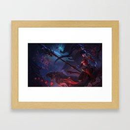 Warring Kingdoms Nidalee League of Legends Framed Art Print
