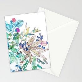 Botanical Mandala Watercolor Painting Stationery Cards