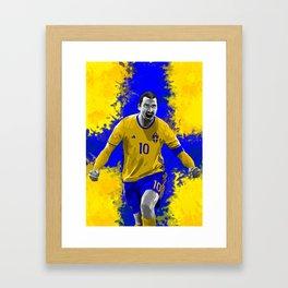 Zlatan Ibrahimovic - Sweden Framed Art Print