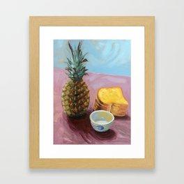 Pineapple in paint Framed Art Print