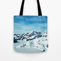alaska Tote Bags featuring Alaska by Elise Giordano