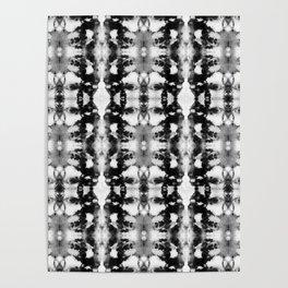 Tie-Dye Blacks & Whites Poster