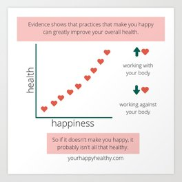 Happiness and Health Art Print