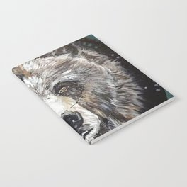 Grizzly bear, green Notebook