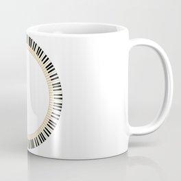 Pianom Keys Circle Coffee Mug