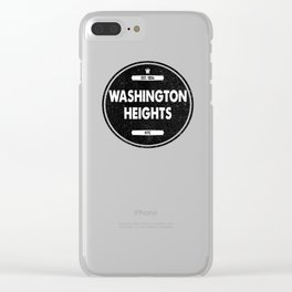 Washington Heights Clear iPhone Case