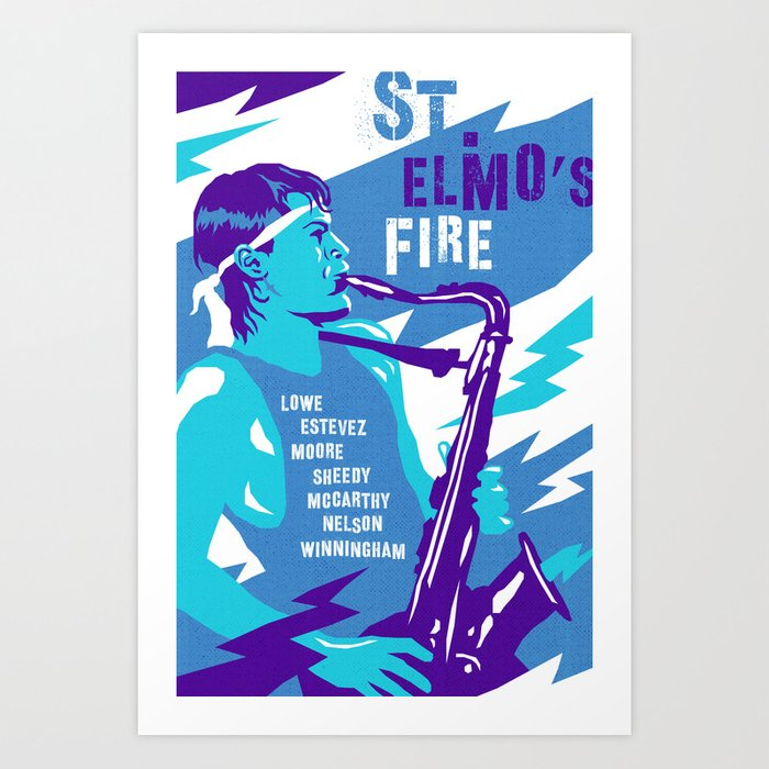 80s Teen Movies St Elmo S Fire Art Print By Davidedwardjohnson