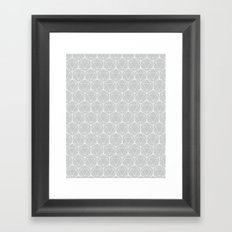 Icosahedron Soft Grey Framed Art Print